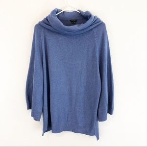 Theory Juilet Dusty Blue Cashmere Cotton Sweater